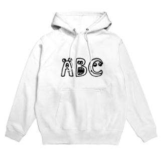 """yurumoji """"ABC"""" Hoodie"""