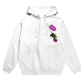 purple(コーラ+🌹) Hoodies