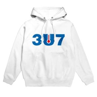 3U7(サウナ) Hoodies