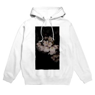 夜桜 Hoodies