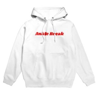 Ankle Break パーカー(レッドロゴ) Hoodies