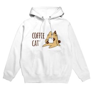 COFFEE CAT Hoodies