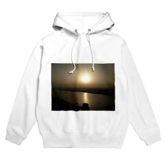 Rising sun at The Ganges Hoodies