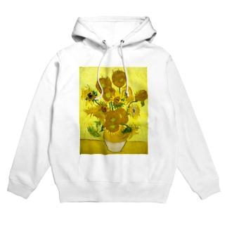 ゴッホ/ひまわり Vincent van Gogh / Sunflowers Hoodies