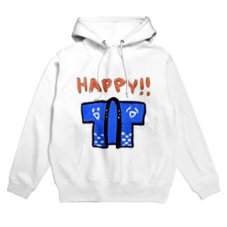 HAPPY!! Hoodies