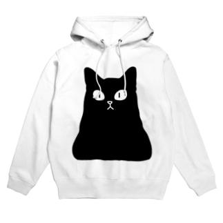 おにぎり型猫(黒猫) Hoodie