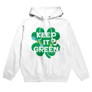 エコ・パンダ ECO PANDA グリーン大作戦 Tシャツ green Hoodies