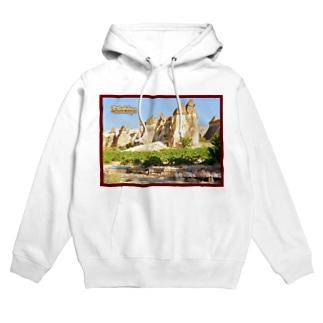 トルコ:カッパドキアの妖精の煙突 Turkye: Fairy Chimneys rock formation near Göreme, in Cappadocia Hoodies