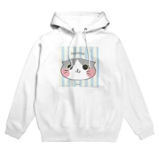ねここ(すこてぃっしゅ) 猫 Hoodies