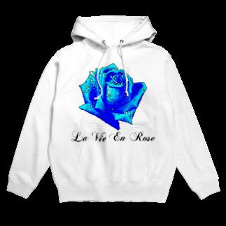 FabergeのLa Vie En Rose-Blue Hoodies
