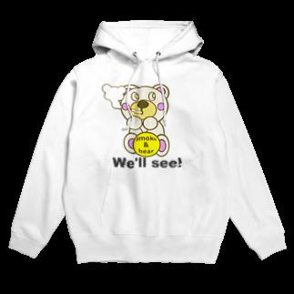 オリジナルデザインTシャツ SMOKIN'の一服モクモックマ  白 Hoodies
