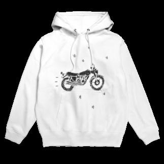 NIKORASU GOのバイクで走り去る Hoodies