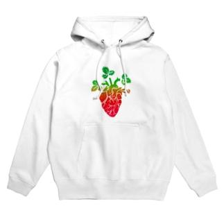 Strawberry Moonな心臓 Hoodies