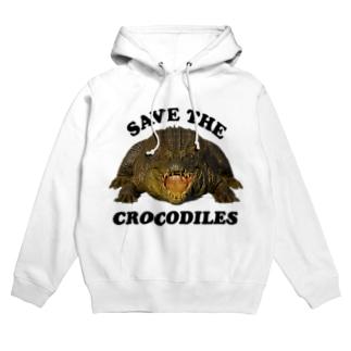 わにシャツ (006) SAVE THE CROCODILES Hoodie