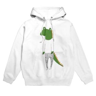 crocodile カラーバージョン Hoodies