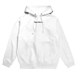 Never Give Up-2(文字黒) Hoodies