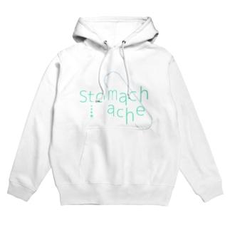 stomachache Hoodies