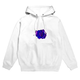 薔薇🌹パープルブルー💜💙 Hoodies