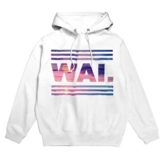 WAIパーカー(サンセットピンク) フーディ