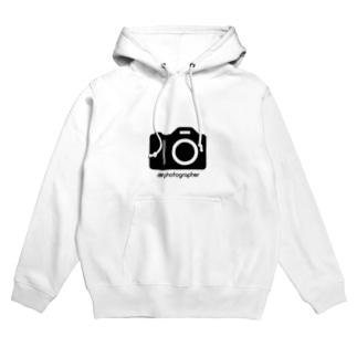 photographer(黒文字) Hoodies