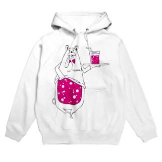 I.gasu peach bear 【アイガス】 Hoodies