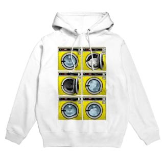 コインランドリー Coin laundry【2×3】 Hoodies