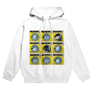 コインランドリー Coin laundry【3×3】 Hoodies
