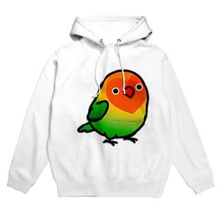 Chubby Bird ルリゴシボタンインコ Hoodies