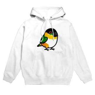 Chubby Bird ズグロシロハラインコ Hoodies