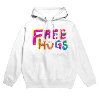 もやしくんのフリーハグ/FREE HUGS Hoodies