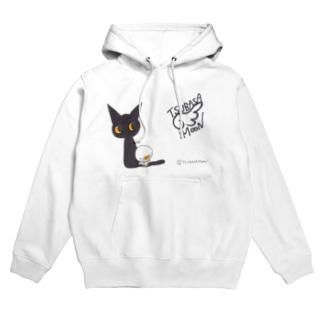 天使のひよこちゃんと黒猫ムーン (クラシック) Hoodies