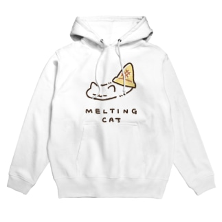 MELTING CAT (フチあり) Hoodies
