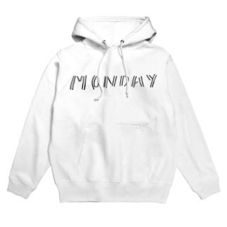 monday (にじゅう) Hoodies