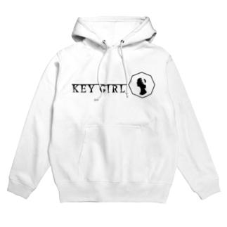 keygirl_logover Hoodies