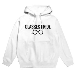 白GLASSES PRIDE Hoodies