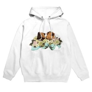 お花とモルモット05 Hoodies
