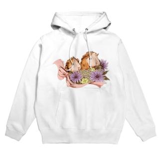 お花とモルモット06 Hoodies