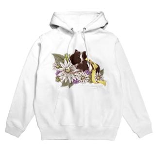 お花とモルモット07 Hoodies