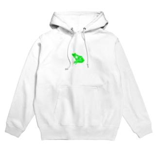 Studio:Frog おふざけ物販「緑」 Hoodies