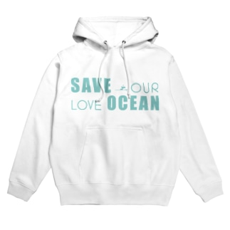 SAVE OUR LOVE OCEAN Hoodies