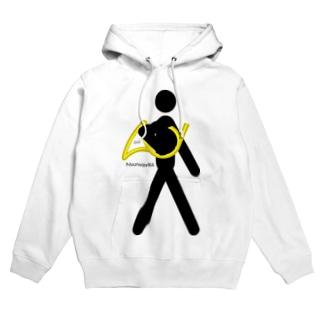 The Walking Hornist w/o Logo Hoodies