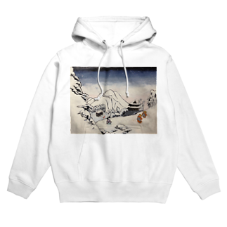 SJMavisのArt of Buddhism and Shintoism and Two Paths in the snow Hoodies