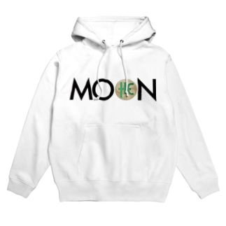 MOON THC blackfont Hoodies