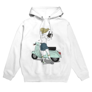 SCOOTER GIRL Hoodies