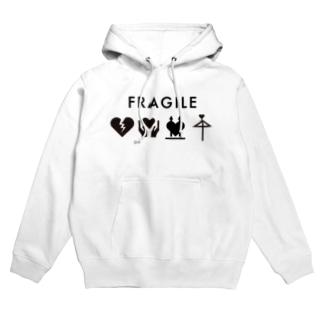 FRAGILE Hoodies