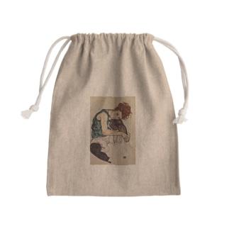 Art Baseのエゴン・シーレ / 1917 / Seated Woman with Bent Knee /Egon Schiele Kinchaku