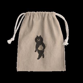 SUIMINグッズのお店の餃子をMacBookのように持ち運ぶ猫 Kinchaku