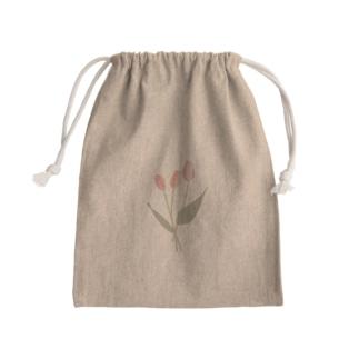 pink tulip Kinchaku