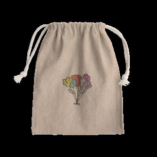 ラテ's shopの6colour flowers 巾着 Kinchaku