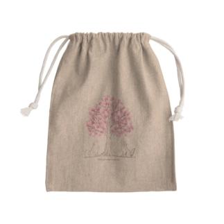 わんこたちと願いの木🌸巾着 Kinchaku